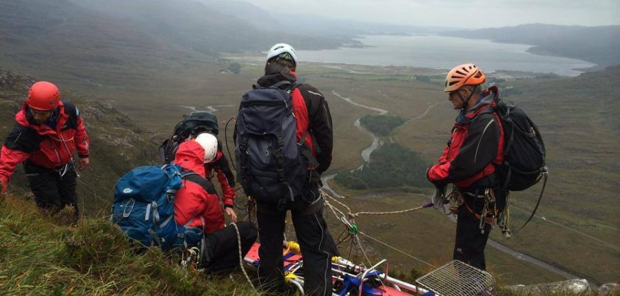 Torridon Mountain Rescue Team stretcher