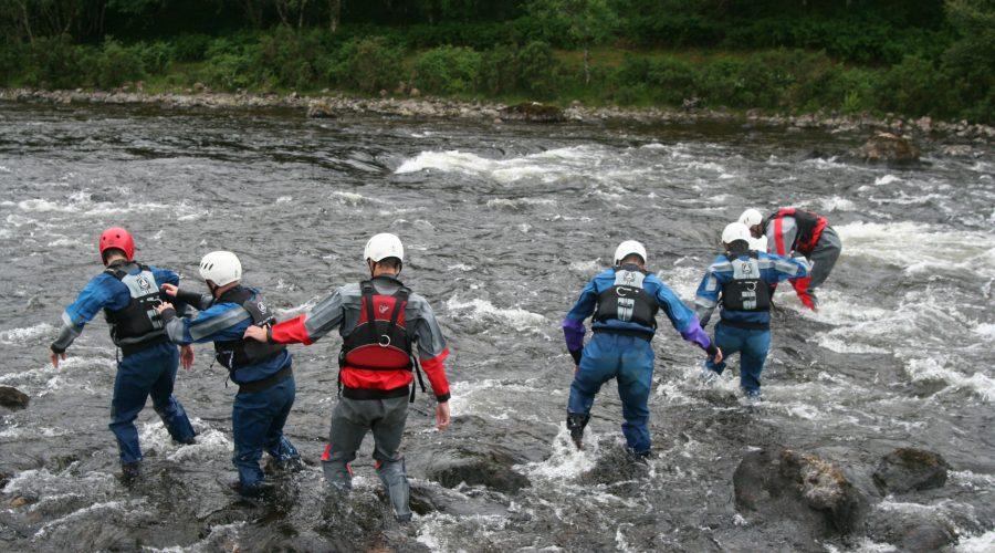 Fast water rescue Torridon MRT