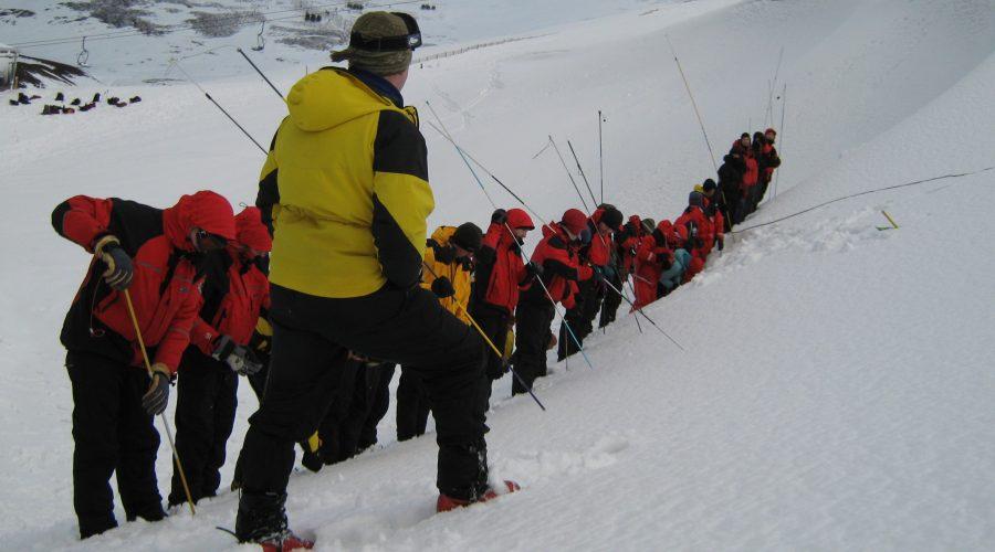 Avalanche probing Torridon MRT