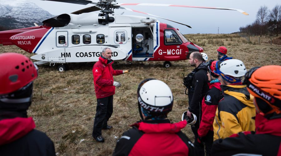Training with Coastguard helicopter