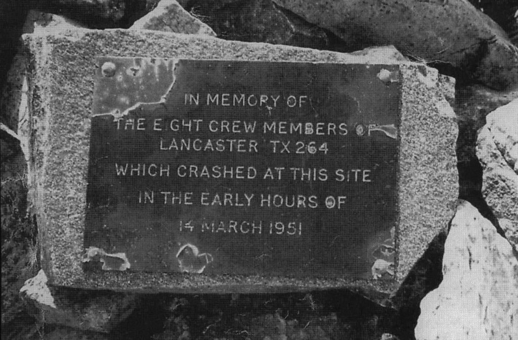 Memorial plaque Torridon MRT
