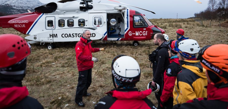 Torridon MRT helicopter training